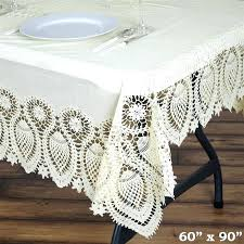 vinyl lace tablecloth vinyl lace tablecloth tablecloths chair covers table cloths linens runners tablecloth 60 round vinyl lace tablecloth