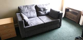 2 seater sofa bed grey in leith