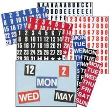 Magna Visual Fh 33 1in H Calendar Dates 1 31 Magnetic Headings White On Red