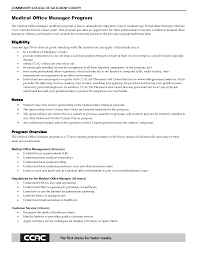 Bunch Ideas Of Free Resume Templates For Medical Office Manager