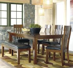 dining table bench seat. Dining Chairs And Bench Brown 6 Piece Set With Furniture Table Seat