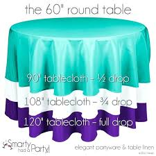 tablecloth for 60 round table what size tablecloth for round table here is a tablecloth size guide for a round table check out the what size square
