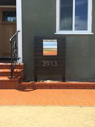 Modern Mailbox Did it ourselves 95 worth of redwood a 60