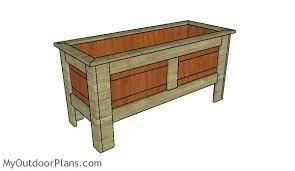 wood planter box plans myoutdoorplans