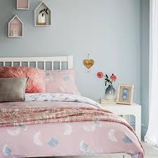 tesco bedding pink ginkgo leaf double duvet set
