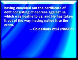 Bildergebnis für colossians 2 vers 14