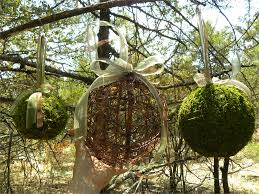 Moss Balls Wedding Decor Inspiration 32 Moss BallsKissing Wedding BallsFairy PartyWoodland Decorations