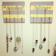interior: Brilliant Streky Diy Necklace Hanger With Unique Liontin Side  Simple Necklace And Unique Camera