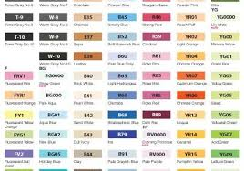 Copic Sketch Marker Color Chart Art At Repinned Net