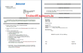 Resume Format Experienced Production Engineer Free Resume