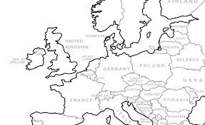 Inspiring Idea Map Of Europe To Colour Maps Personalised Colouring ...