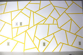 geometric tape design painting - DIY for Life
