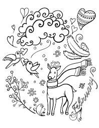 Small Picture Free February Coloring Page
