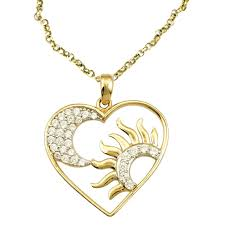las shipton and co exclusive 9ct yellow gold and cubic zirconia pendant including a 20 9ct