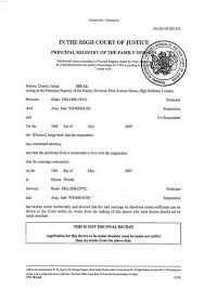 Printable Sample Divorce Papers Form Laywers Template Forms Online Stunning Divorce Notice Format