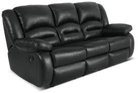 black leather reclining sofa. Plain Reclining Toreno Genuine Leather Reclining Sofa U2013 Black With D