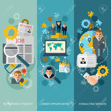 human resources personnel management consulting services for human resources personnel management consulting services for career opportunities 3 vertical banners set abstract flat vector