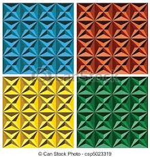 3d Patterns Interesting 488d Geometric Seamless Pattern 48piece Set Of Geometric Seamless
