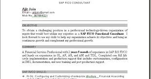 Sap Pp Fresher Cv Professional Resume Templates