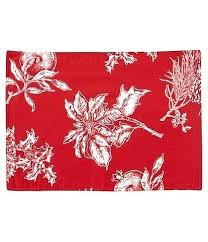 table linens southern living holiday red poinsettia round tablecloth uk
