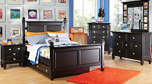 kids black bedroom furniture. Plain Kids Belmar Black 5 Pc Full Poster Bedroom Inside Kids Furniture
