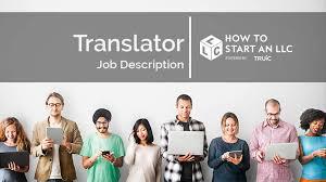 Interpreter Job Description Translator Job Description How To Start An Llc