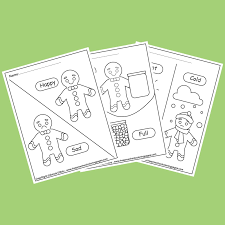 It will make her sad. Gingerbread Man Opposites Coloring Pages For Kids
