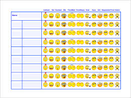 Free Editable Behavior Chart Behavior Chart Template 12 Free Sample Example Format