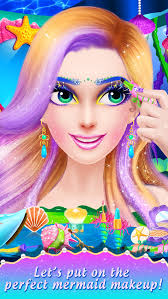 princess mermaid makeover undersea world beauty spa makeup dress up game for s