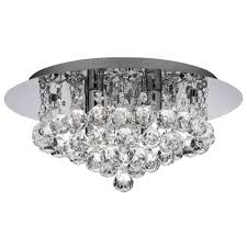 hanna crystal flush ceiling light 3404 4cc