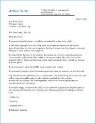 Data Entry Examples Charming Data Entry Cover Letter To Create Your Own Resume