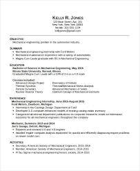 10 Mechanical Engineering Resume Templates Pdf Doc