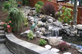Small Picture Waterfall Stones Landscaping Small Pond Autumn Forest With