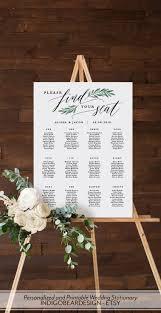 Greenery Seating Chart Wedding Printable Seating Plan Sign