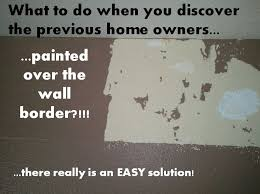 how to remove any wallpaper or wall border even if it is painted over wallpaper wallpaperremoval homerepair homeimprovement walls homedecor