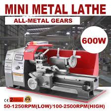 motorized metalworking diy tool soft metal wood mini lathe machine 600w