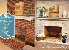 excellent whitewash brick fireplace whitewashed brick fireplaces before and after es whitewash brick fireplace chalk paint