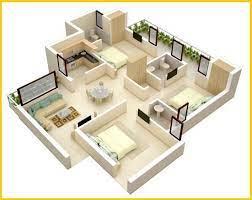 apartment floor plans 3d house plans