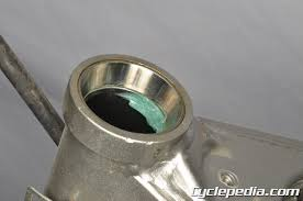 cyclepedia kawasaki klx140 motorcycle online manual cyclepedia kawasaki klx140 steering bearings races inspection installation replacement grease nut adjustment