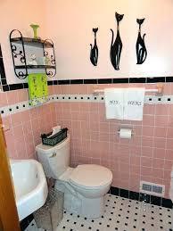 black bathroom rugs pink and black bathroom adds a pink bathroom to her mid century house black bathroom rugs