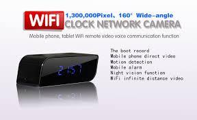 wifi pinhole alarm clock motion activated t16