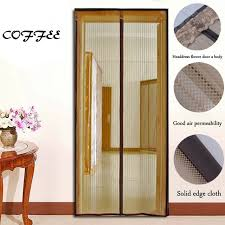 anti entry one minute shut mosquito preventing fly screen curtain for doors 100 polyester magnetic