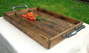 large wooden tray for coffee table winning industrial style ottoman tray rustic wooden large for coffee