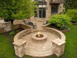 mchenry unilock fire pit bbq lake county il bluestone fireplaces throughout brick patio with design 14 brick patios with fire pit l30 pit
