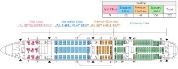 jal seating plan premium economy narita