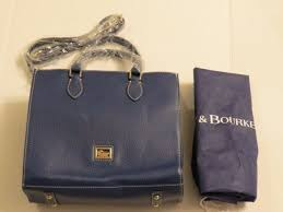 dooney bourke leather janine satchel ocean blue 6l231 new with tag