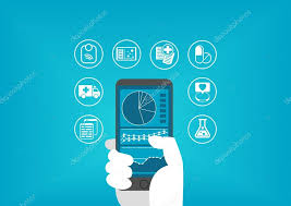 Digital Medical Chart Electronic Healthcare E Health Concept With Hand Holding
