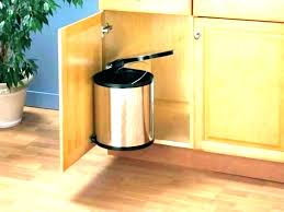 kitchen garbage can cabinet kitchen garbage can cabinet trash brown pull out cans bin size trash