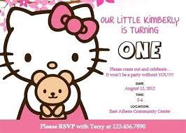 Hello Kitty Printable Birthday Card Birthday Banner Template