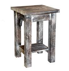 white washed mango wood. 19/8033 Square Mango Wood Side Table Rustic White Wash Finish Washed